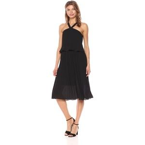 Bebe Black Sleeveless Halter Neck Dress
